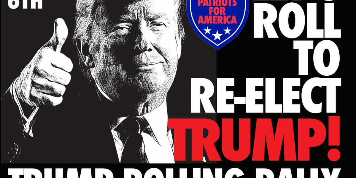 A 'rolling rally' for President Trump planned Sunday in Indiana, Ohio