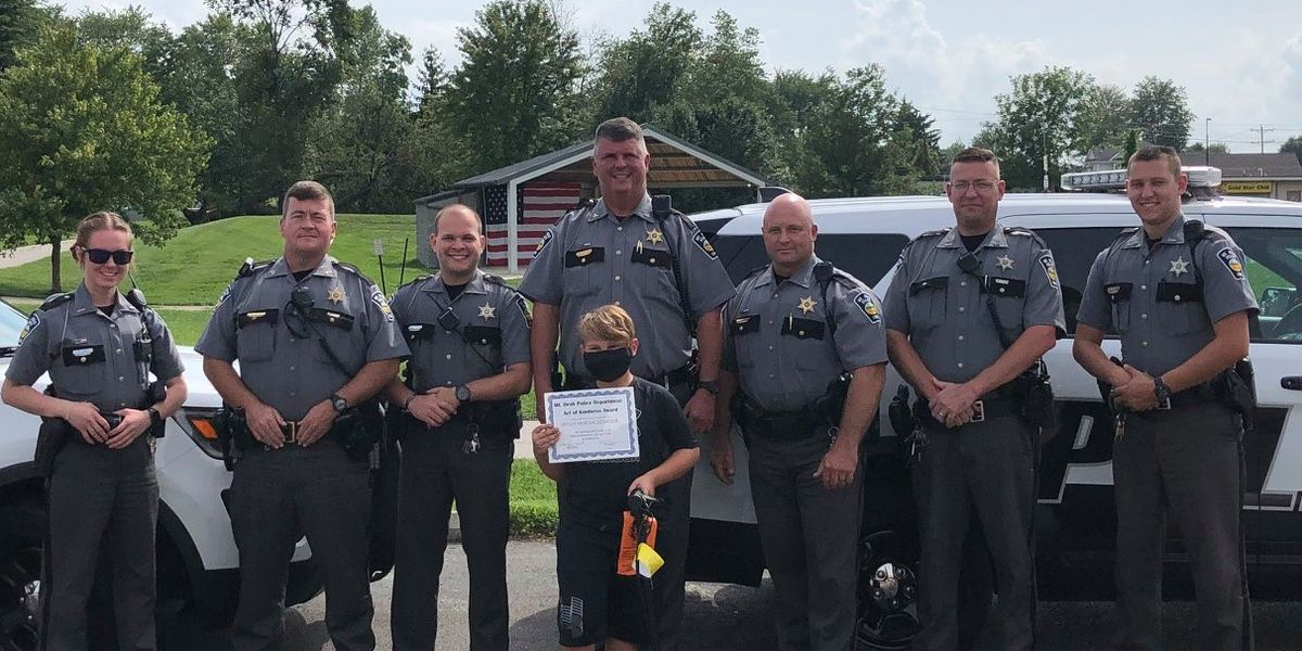 Local police department surprises boy with gift weeks after good deed