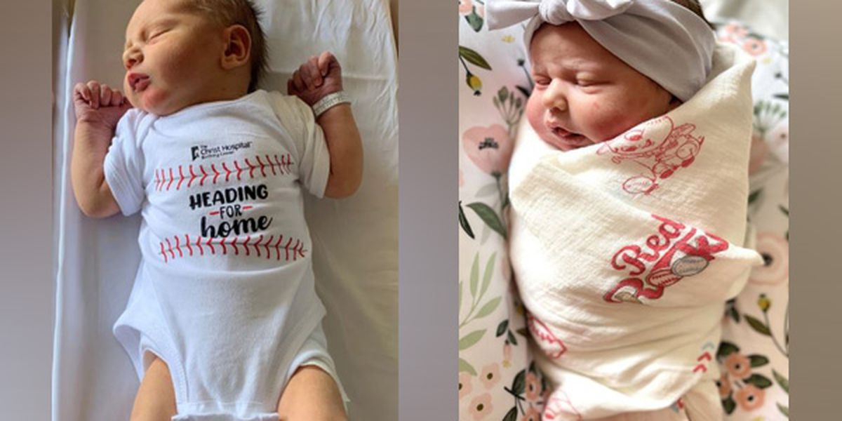 Babies born on Opening Day get Reds onesies, blankets