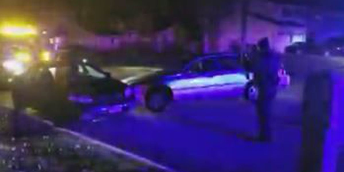 Suspect at large after police chase, crash