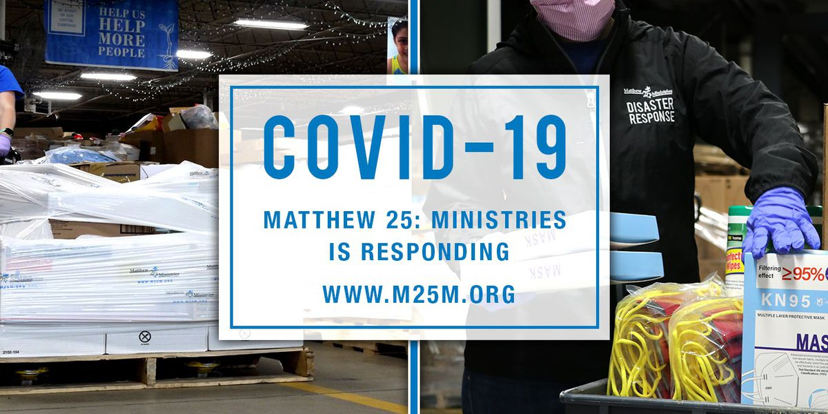 Matthew 25: Ministries handing out COVID-19 supplies at Blue Ash location