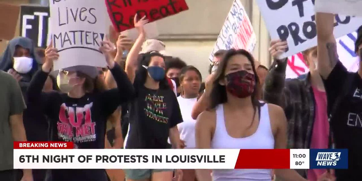 Protests continue for 6th consecutive night in Louisville