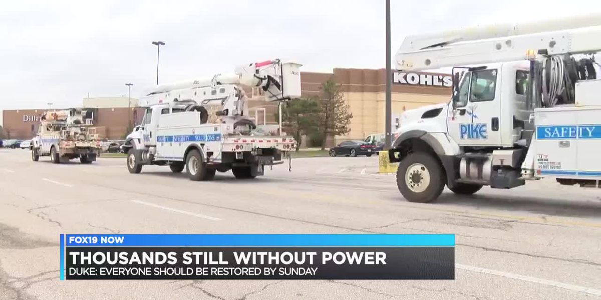 Thousands still without power