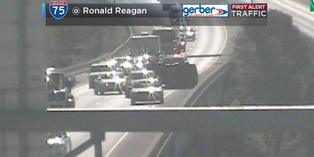 Crash clears WB Ronald Reagan Hwy before I-75