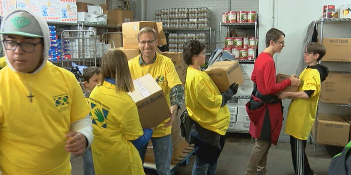 Local shelter receives 30,000 pounds of boxed food