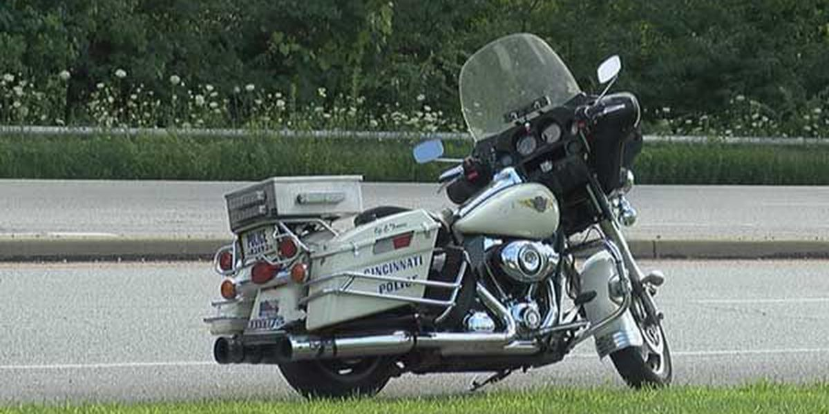 Cincinnati police officer not seriously injured in North Bend motorcycle accident