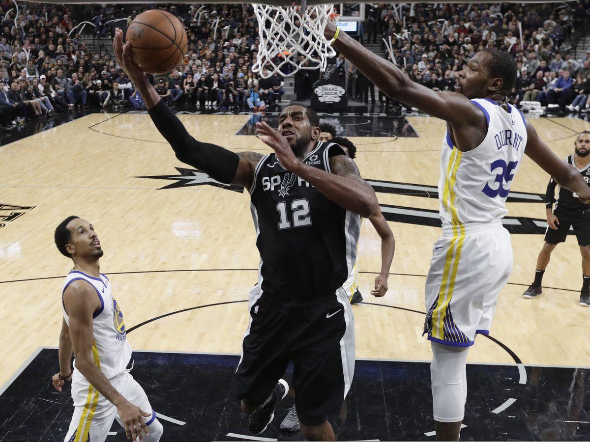 Aldridge, DeRozan help Spurs extend Warriors' skid, 104-92