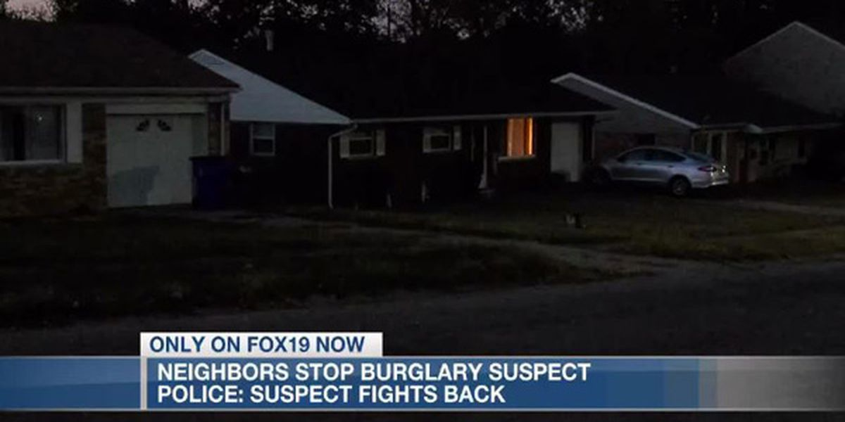 Police: Burglary suspect fights back with pepper spray after neighbors hold him down