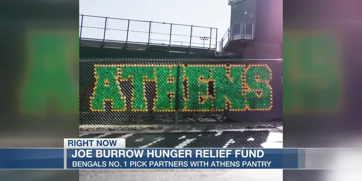 Joe Burrow creates hunger relief fund for Athens pantry