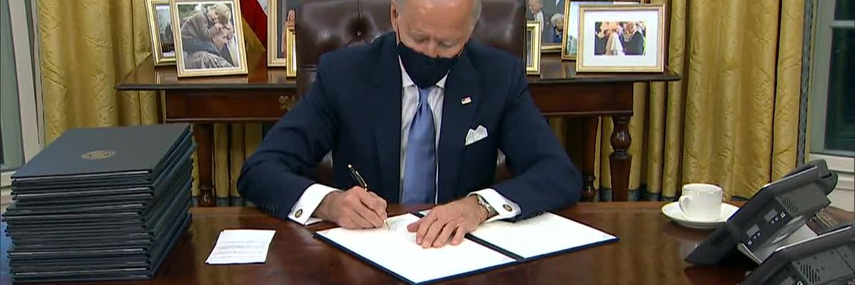 Biden asks Americans to 'mask up' for 100 days amid more COVID-19 variant cases