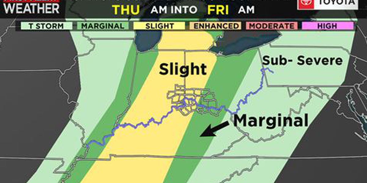 Thursday is a First Alert Weather Day for possibility of severe storms, flooding rain