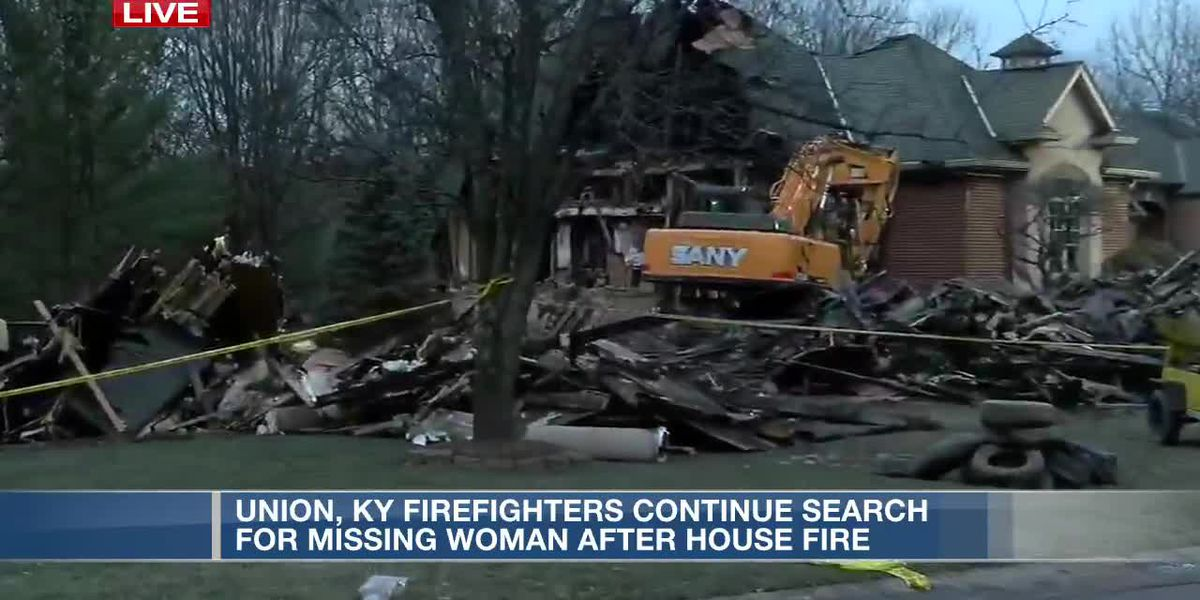 Search continues for missing woman after house fire