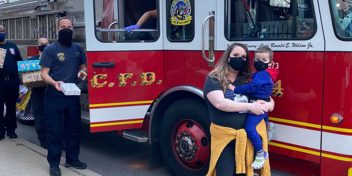 Community celebrates boy fighting cancer with drive-by birthday parade