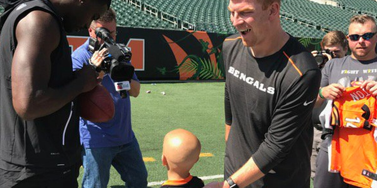 Terminally ill boy, 6, meets the Bengals: 'Win the game'