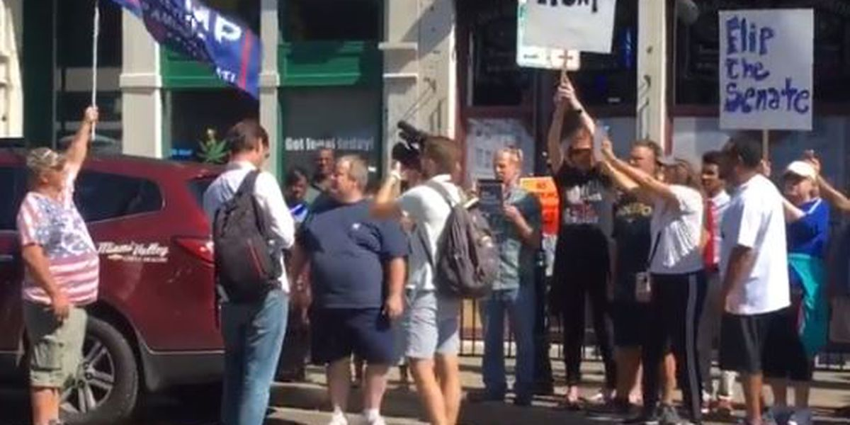 Protests over Trump visit in Dayton