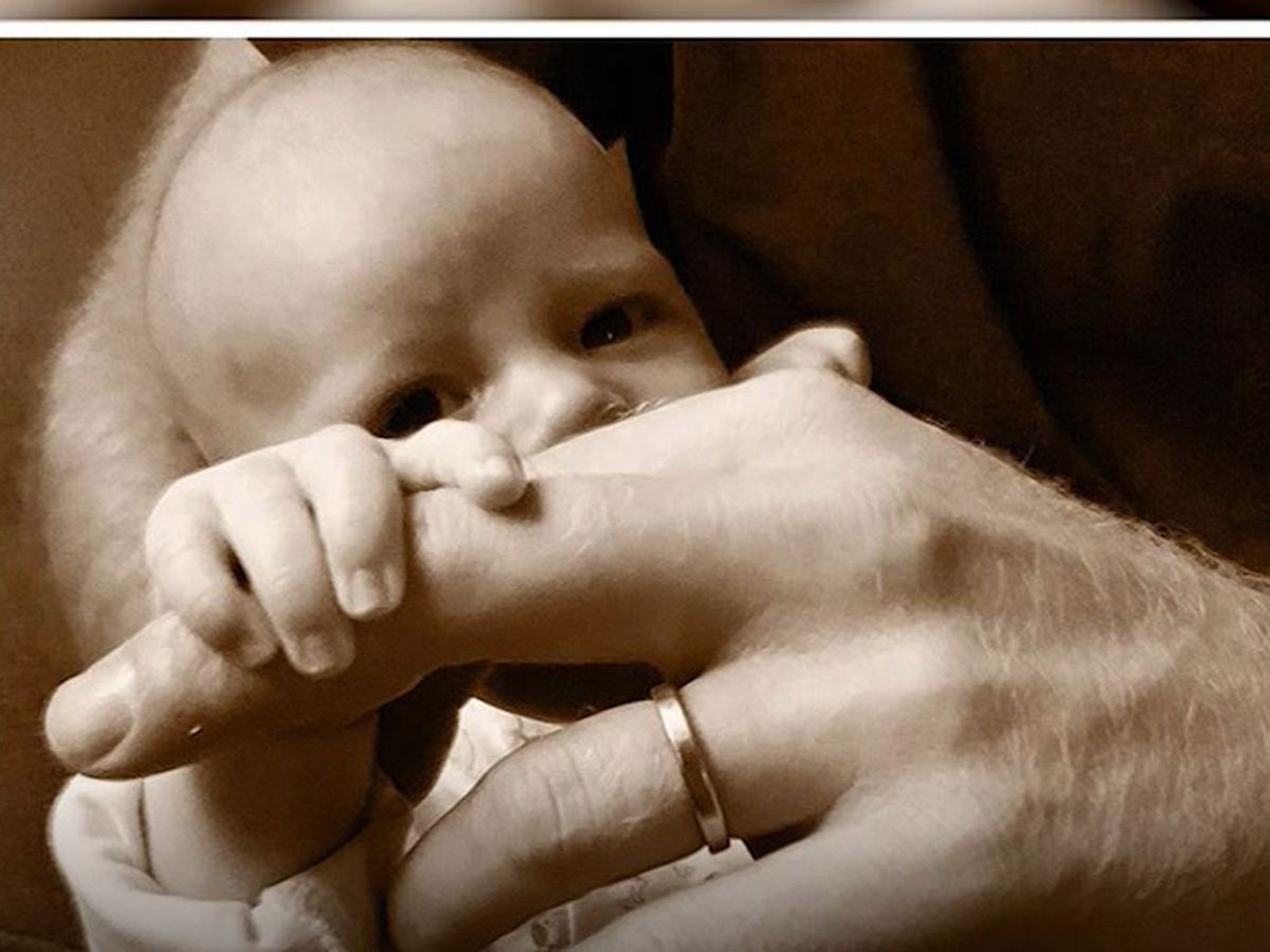 Royals Meghan and Harry release Father's Day photo of baby Archie