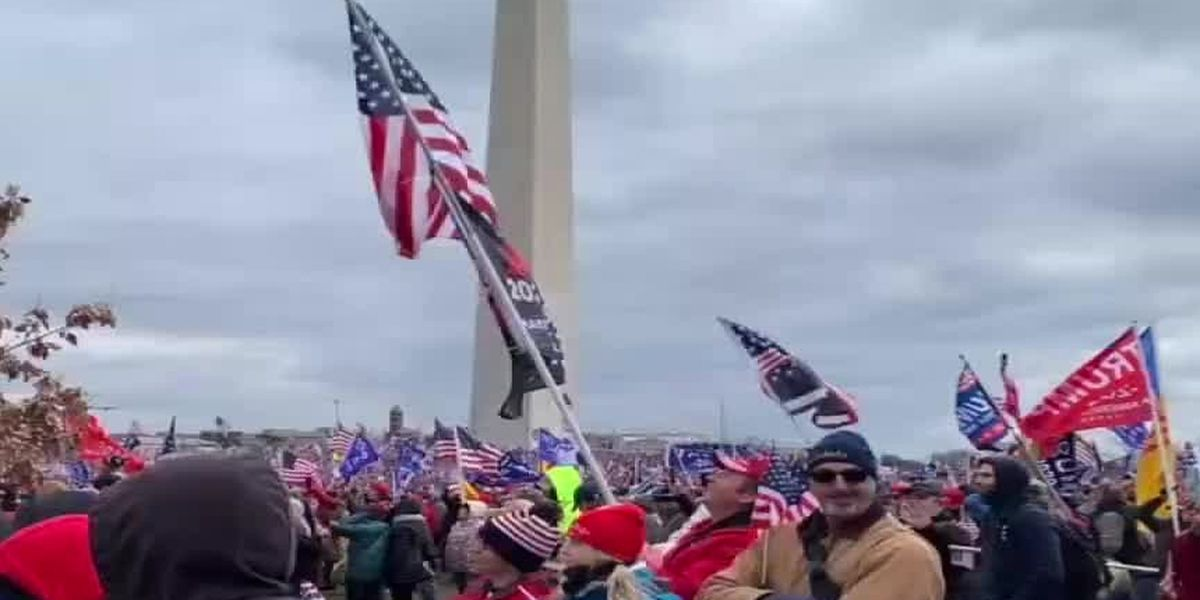 VIDEO: Local woman films march to Capitol building, recalls 'evil' presence