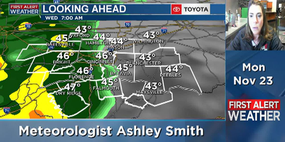 Dry today with wet weather Wednesday