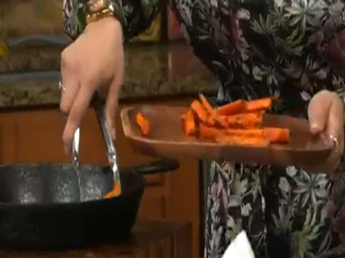 Crunch out with Chef Bambina: How to make truffle garlic carrot fries with pepper garlic aoili
