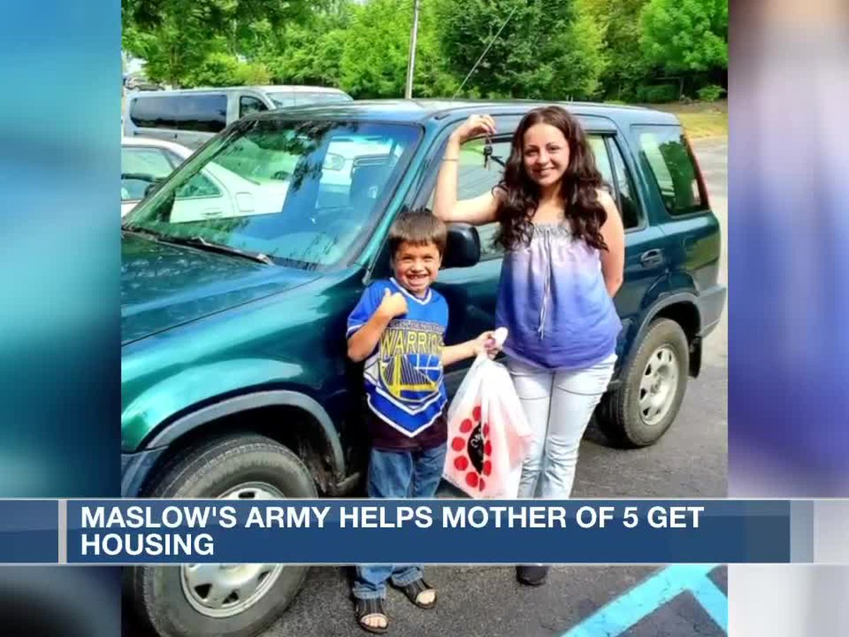 Maslow's Army helps mother of 5 get back on her feet