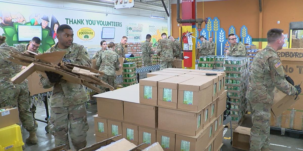 National Guard helps feed hungry at Tri-State food banks