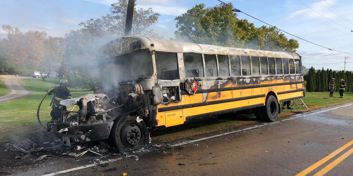 No injuries reported in massive Madison Twp bus fire