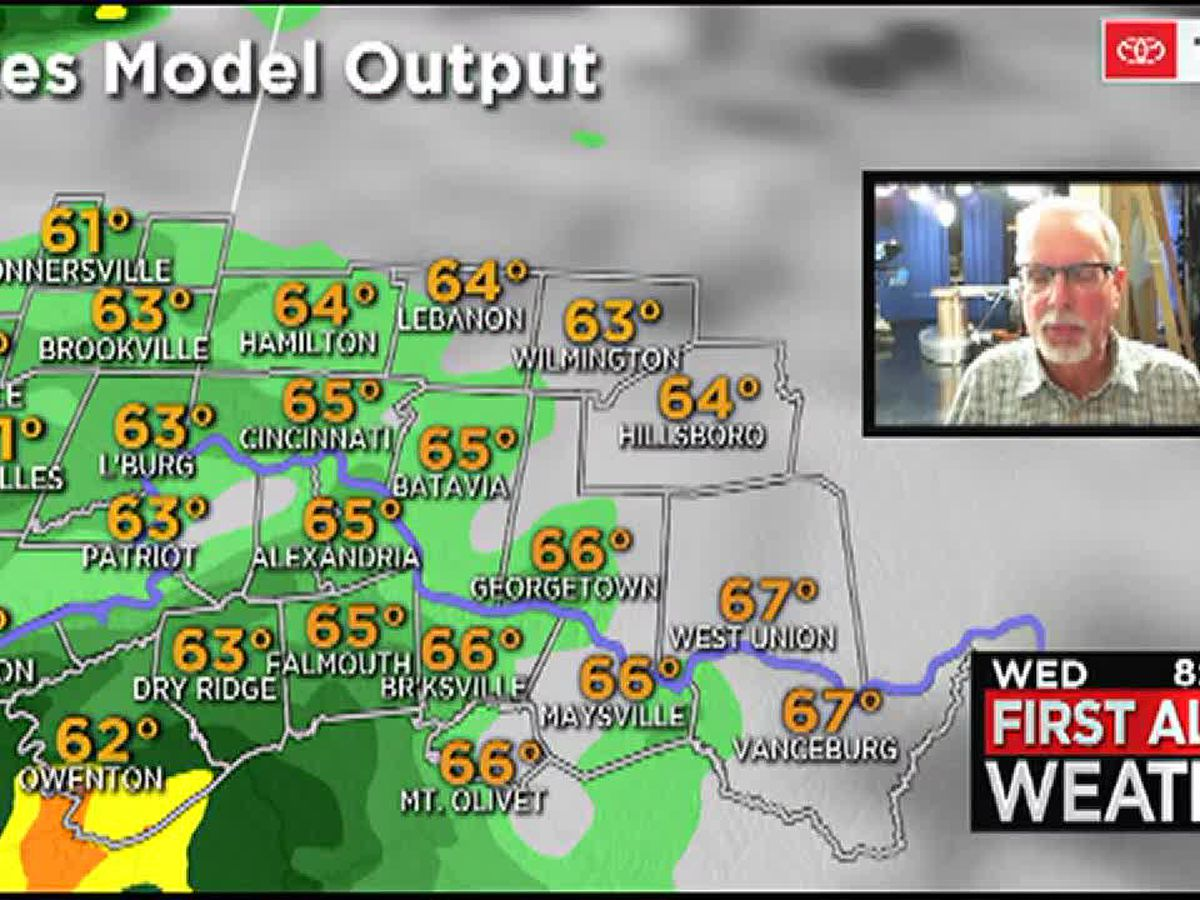 Widespread rain returns Wednesday evening