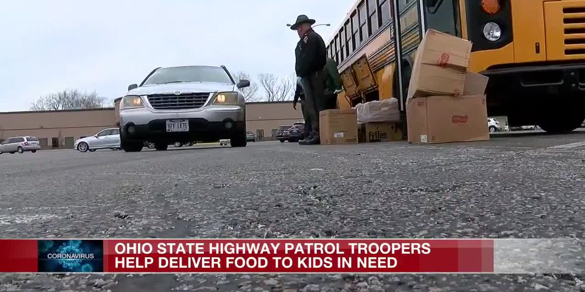 OSP troopers help deliver food to kids in need