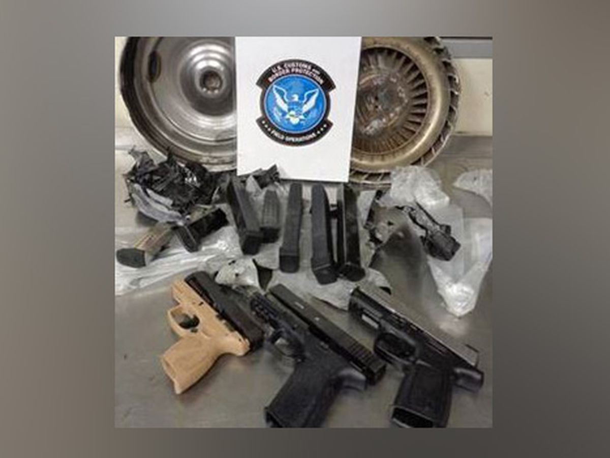 Auto parts that concealed weapons seized by officers