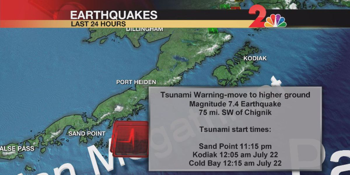 Tsunami warnings in Alaska canceled after state hit with 7.8 earthquake