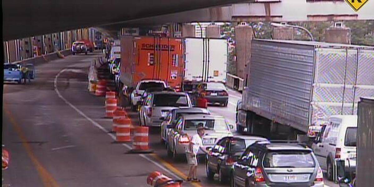 Lanes begin to reopen after I-71 crash near Brent Spence Bridge