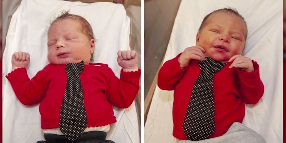 Newborns honor Mr. Rogers with red cardigans at Pittsburgh hospital