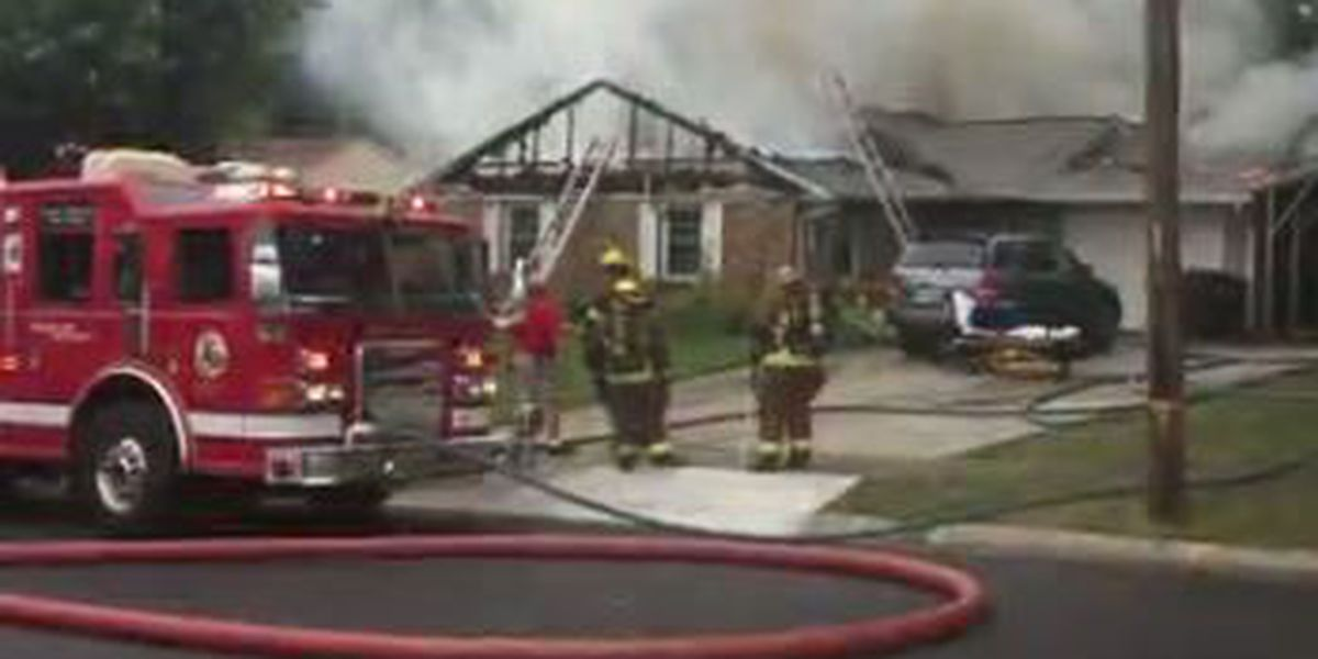Fire destroys home in Franklin