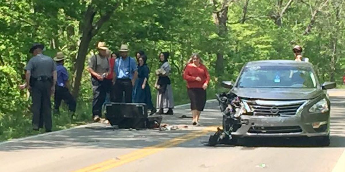 Three teens hurt in crash involving Amish buggy, car