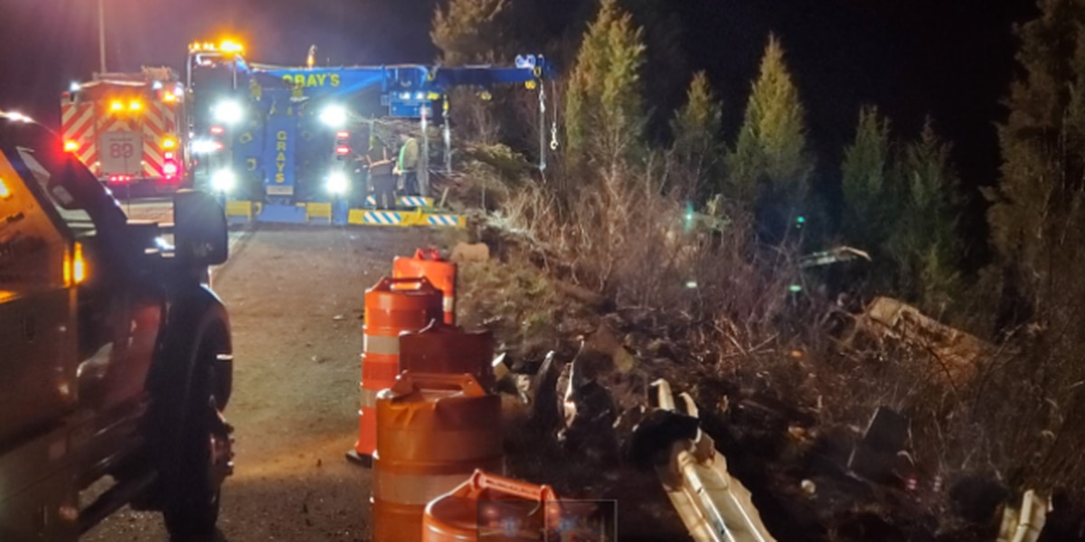 NB I-71 ramp to Red Bank Rd closed thru Tuesday night to replace guardrail after semi crash