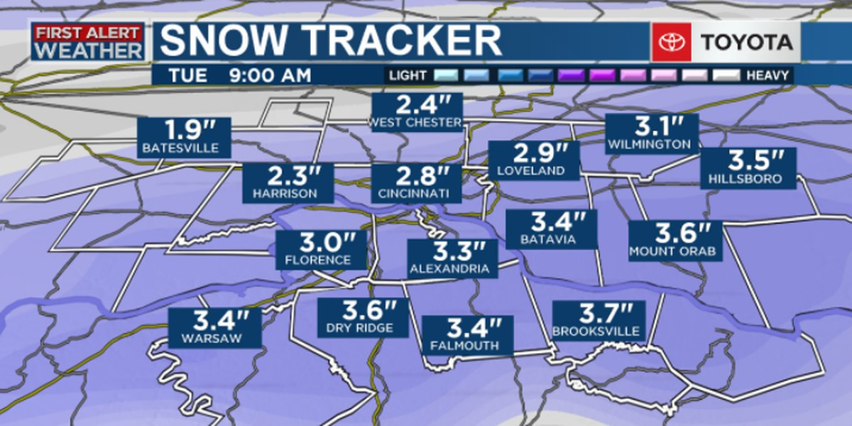 Here's when snow arrives, how much