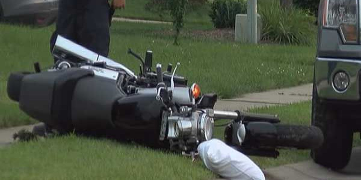Motorcyclist in serious condition after crash