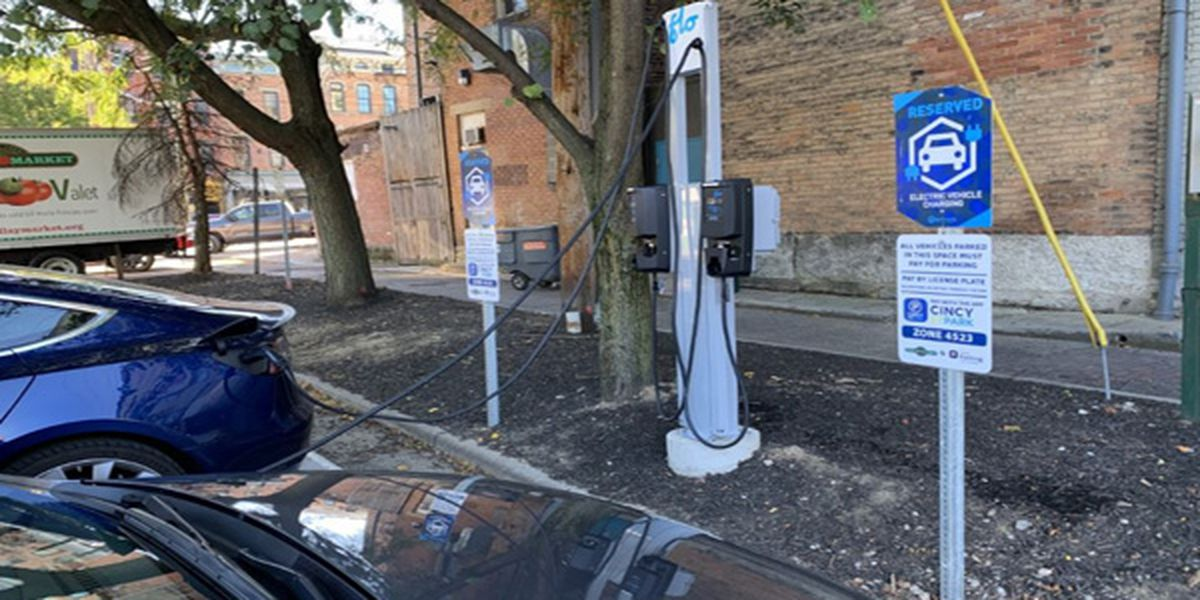 Cincinnati startup company adds electric car charging stations to Findlay Market parking lot