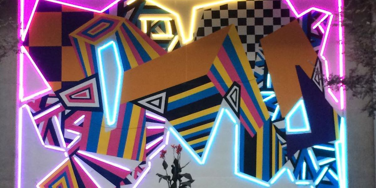 ArtWorks' first LED mural makes its debut in time for BLINK