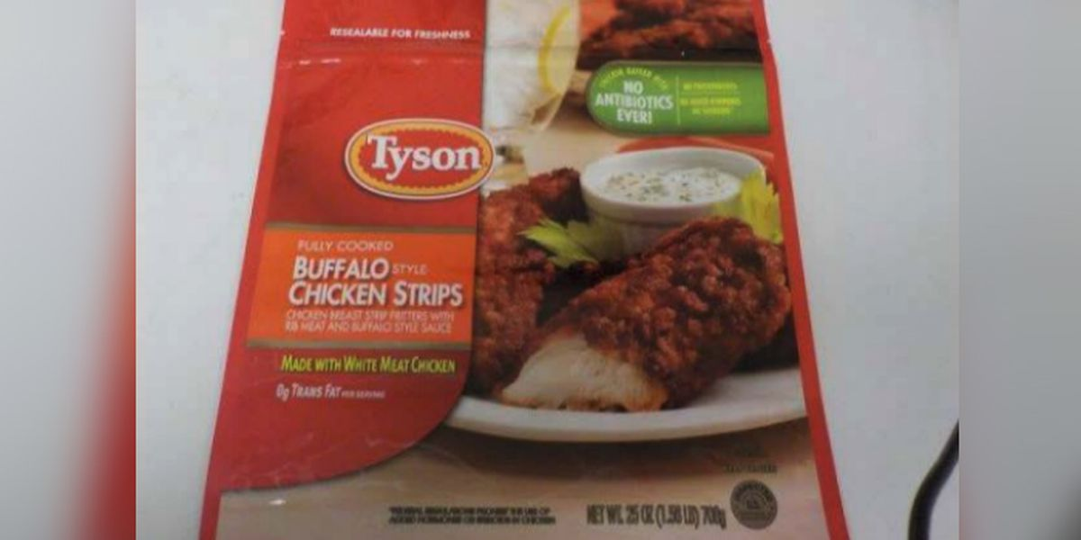 Tyson recalls 69,000 pounds of chicken strips over possible metal contamination