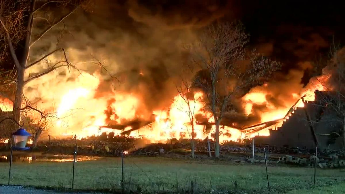 VIDEO: Crews letting fire burn in Butler County to avert 'environmental disaster,' chief says