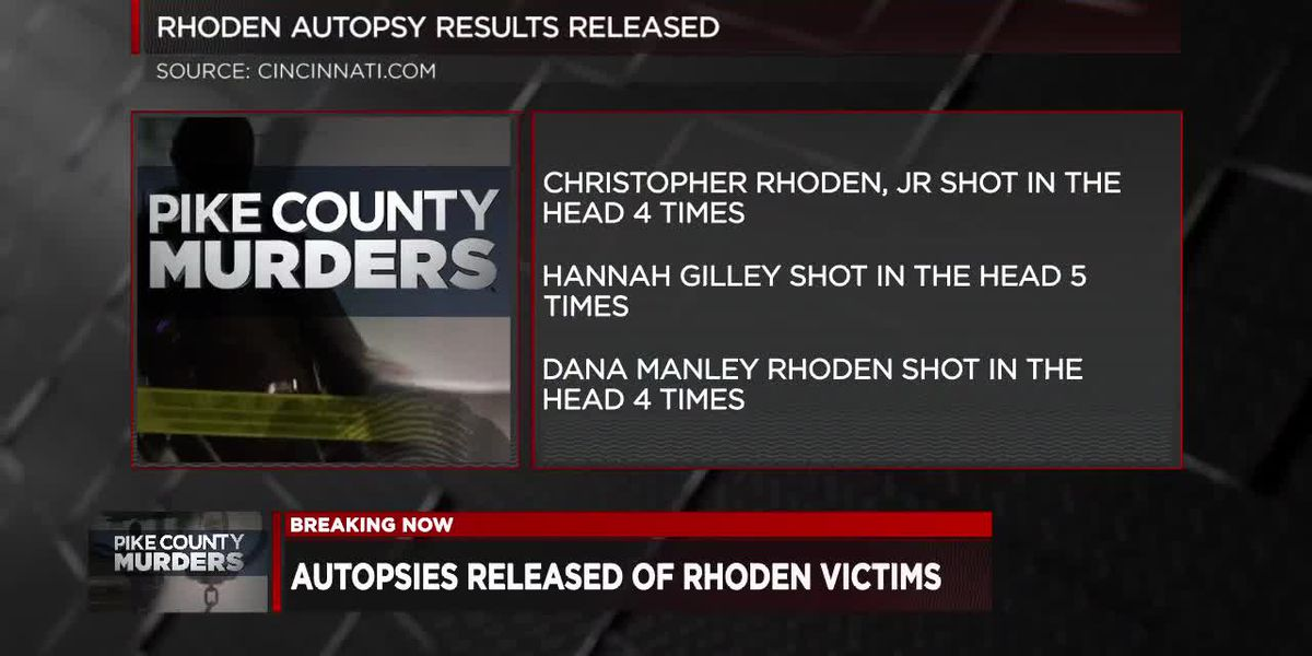 Autopsies released of Rhoden victims