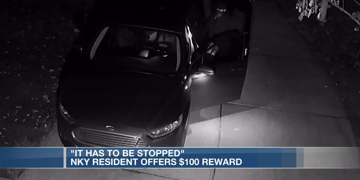 'It has to be stopped': NKY resident offers $100 reward for information on vehicle break-ins