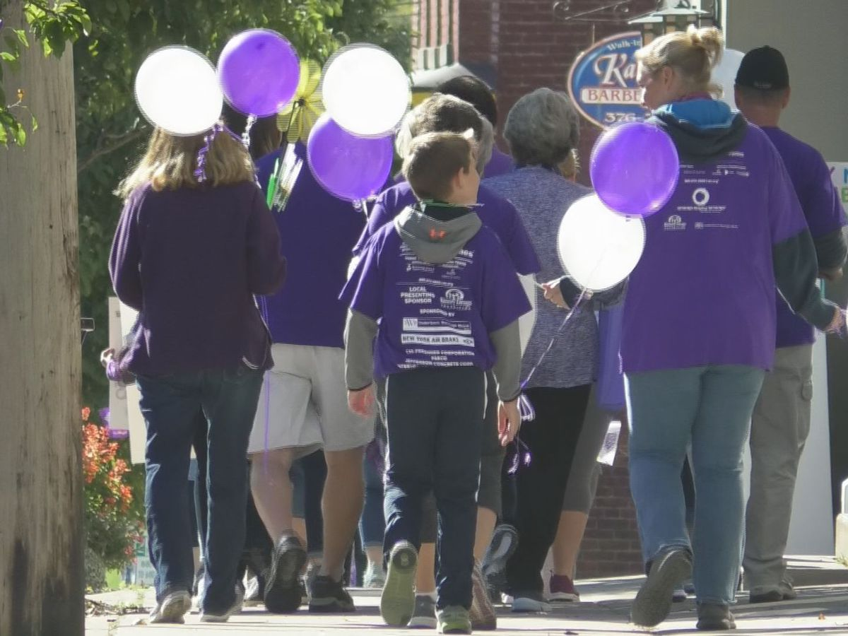 Hundreds took part in Walk to End Alzheimer's event Saturday
