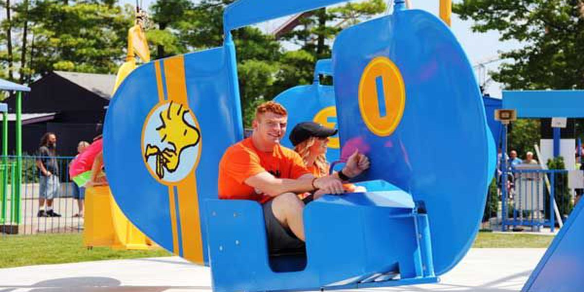 Andy Dalton hosts 'King for a Day' program at Kings Island