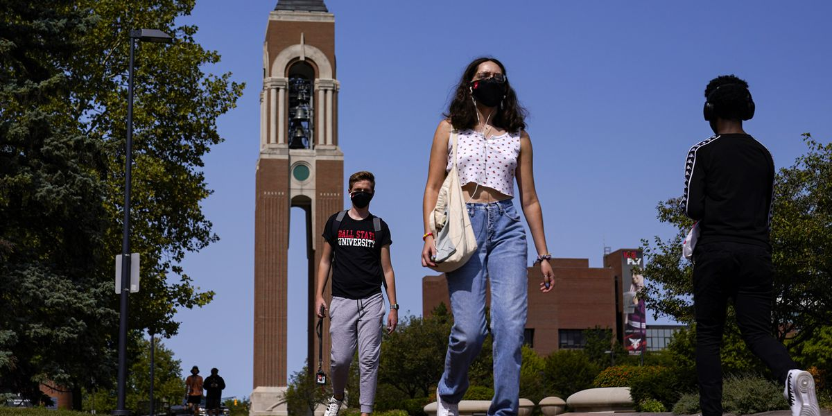 Infection rates soar in college towns as students return