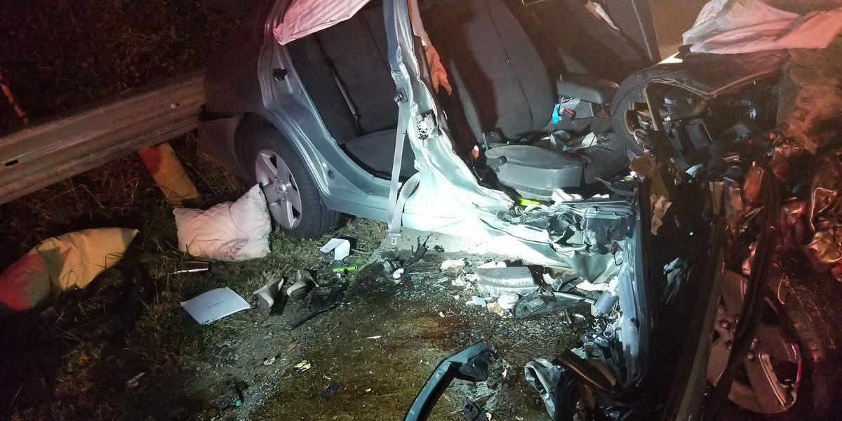 Firefighters work more than hour to extricate passenger trapped in mangled car