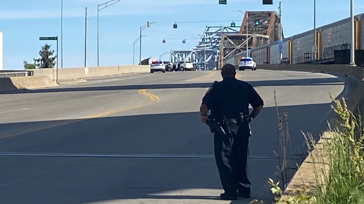 One person transported to hospital after crash on Clay Wade Bailey Bridge