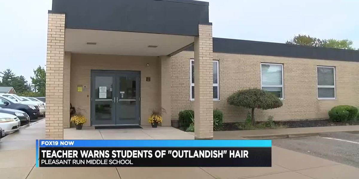 Teacher warns students of 'outlandish' hair