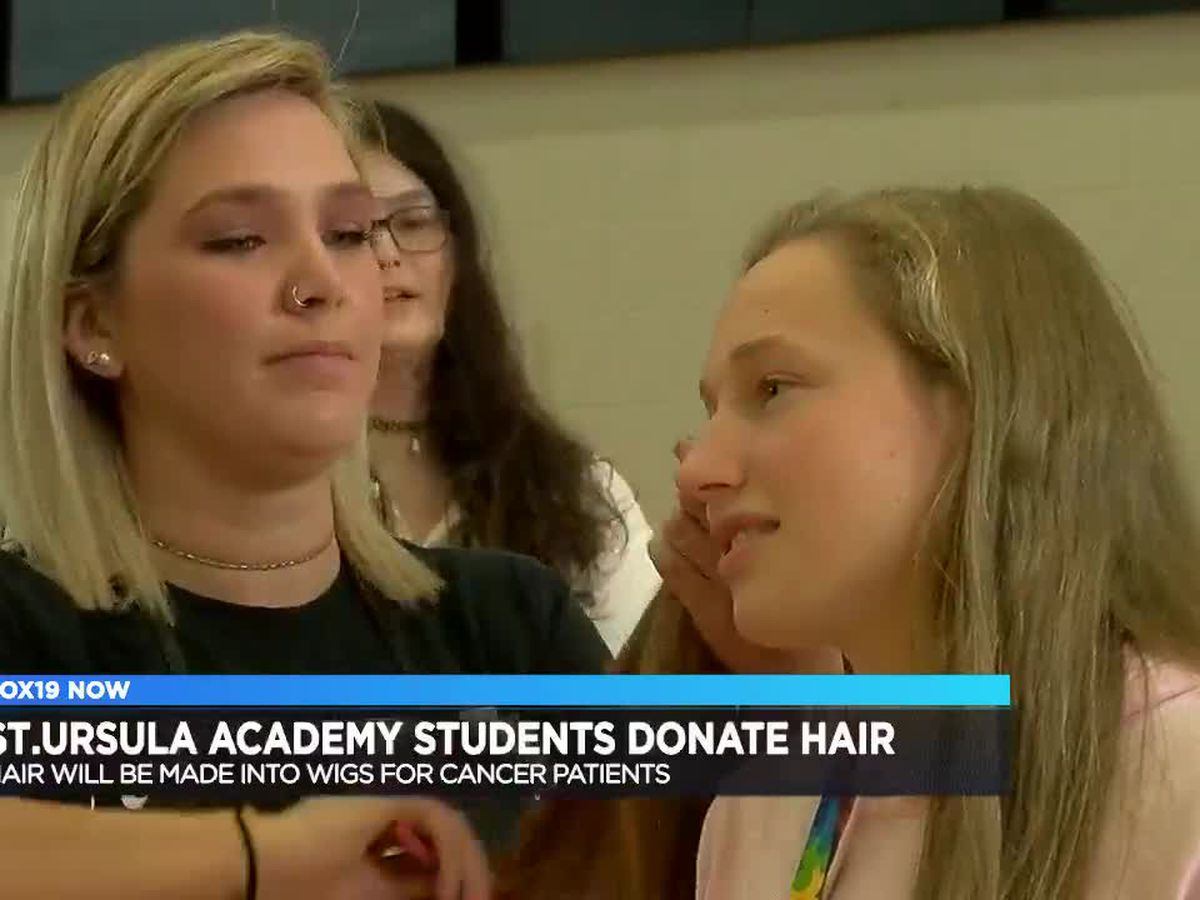 Dozens of St. Ursula students cut, donate hair